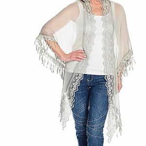 Accessories - Sheer woven laced trim wrap